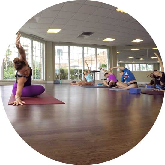 Core Yoga class at the Serenity Spa, with Jessica Banks
