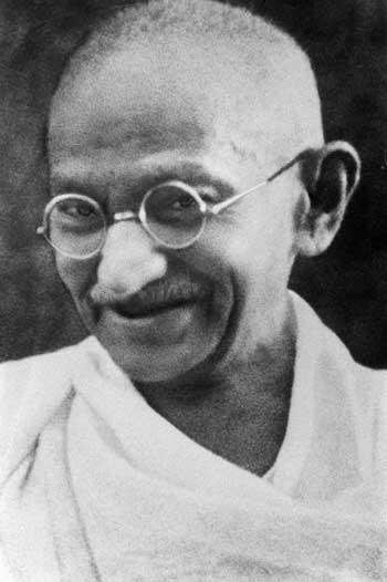 image of Gandhi for Energy Mender blog post Jessica Banks is a Reiki Master, Yogini, and Psychic Energy Healer