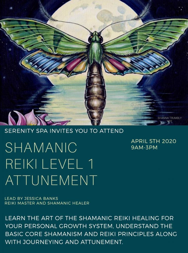 Poster for the Shamanic Reiki Level 1 Attunement